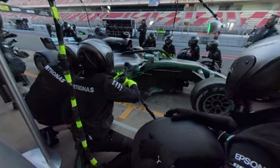 Mercedes W09 - 2018 Consommation limitée à 105kg par Grand Prix avec un maximum de 100litres/heureLe moteur Mercedes est réputé être moins «gourmand» que ses rivaux, mais les pilotes doivent néanmoins en contrôler la consommation. | 7 juin 2018