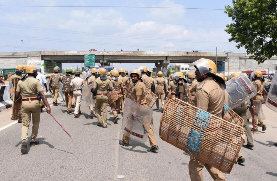 En mai, une manifestation visant une fonderie exploitée... (Photo Arun Sankar, archives Agence france-Presse)
