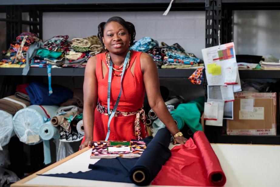 La designer Mireille Mpere Tshipamas'est installée à L'Épiphanie... (Photo Hugo-Sébastien Aubert, La Presse)