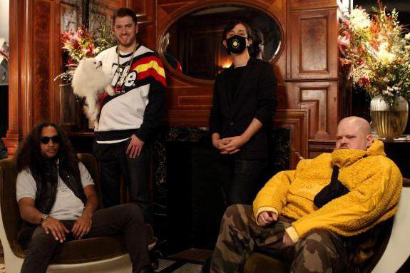 Tido, Cuizinier,Orgasmic etTeki Latex ont formé il y... (photo Julot Bandit, fournie par les FrancoFolies)