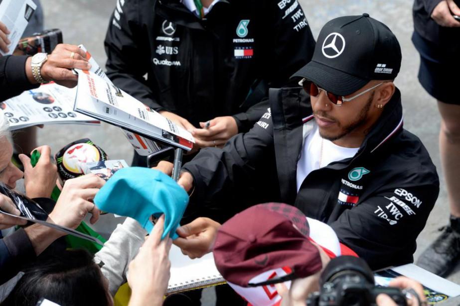 Déjà six fois vainqueur à Montréal, Lewis Hamilton... (Photo Bernard Brault, La Presse)