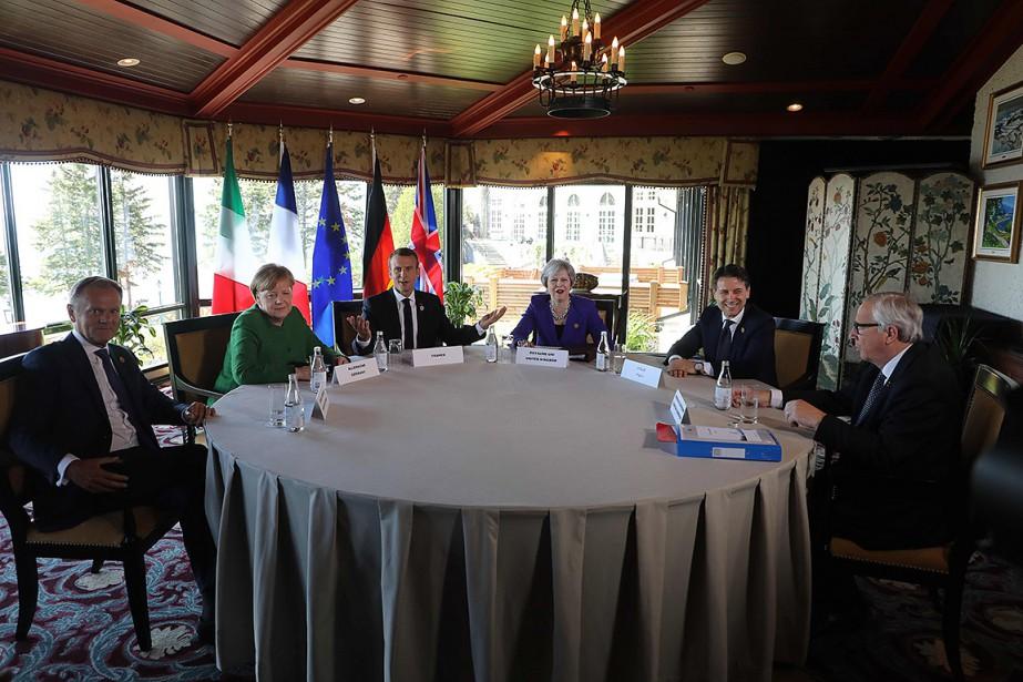 Donald Tusk, Angela Merkel, Emmanuel Macron, Theresa May,... (AFP)