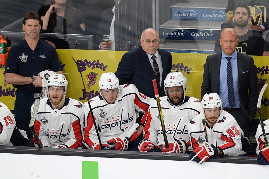 L'entraîneur-chef des Capitals de Washington, Barry Trotz, a... (PHOTO GARY A. VASQUEZ, ARCHIVES USA TODAY)
