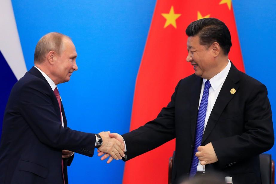 Vladimir Poutine et Xi Jinping.... (Photo Aly Song, REUTERS)