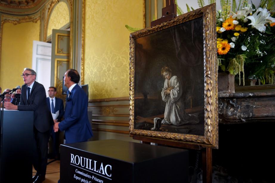La toile, une huile de 72 cm sur... (AFP)
