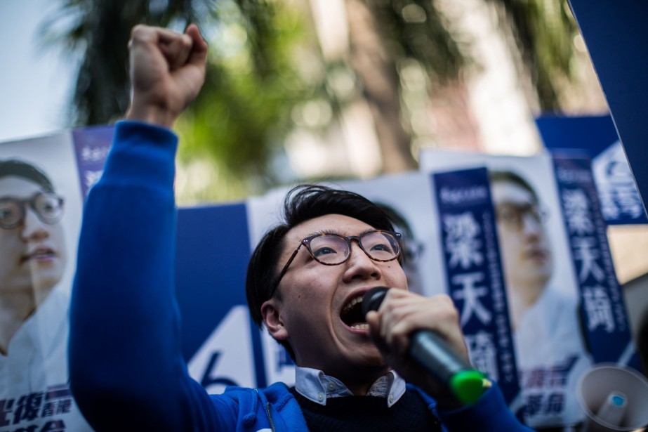 Edward Leung... (PHOTO AFP)