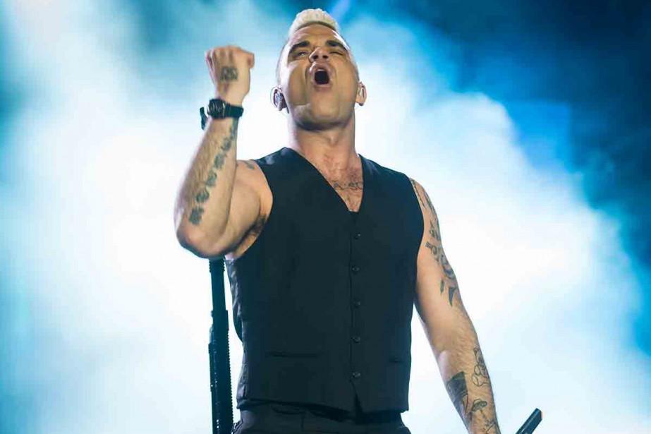 Robbie Williams... (Photo Paléo Festival, Pierre Descombes)
