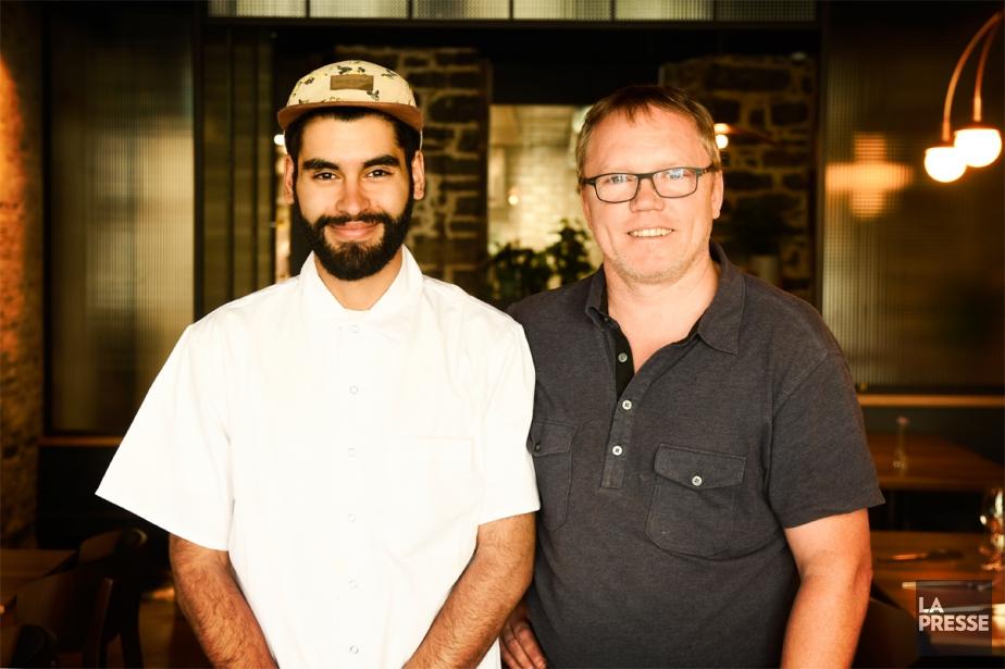 Samy Benabed, nouveau chef de cuisine de Chez... (PHOTO BERNARD BRAULT, LA PRESSE)