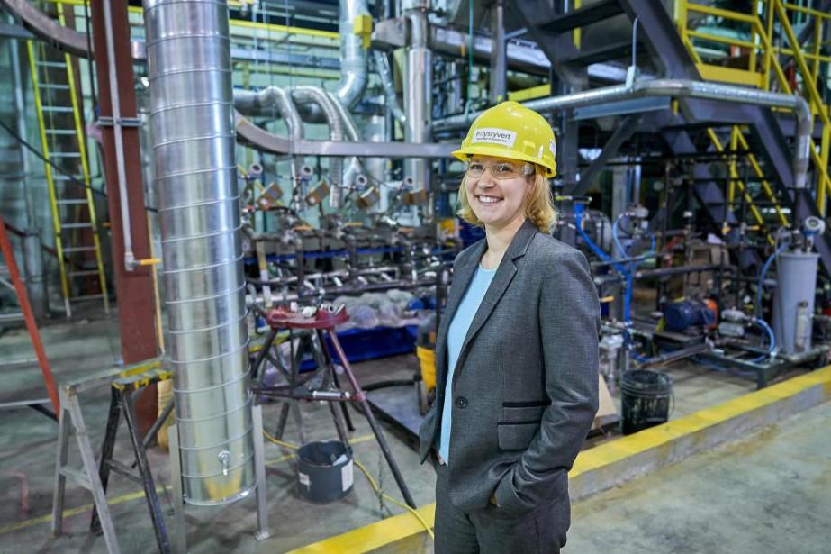 Solenne Brouard, présidente et fondatrice de Polystyvert... (PhotoAndré Pichette, La Presse)