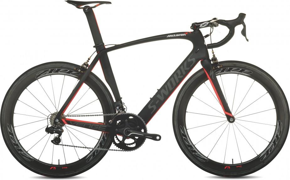 <strong>Specialized S-Works McLaren Tarmac -</strong>C'est sans conteste un des vélos les plus rapides qu'on puisse imaginer, grâce à une fibre de carbone mise au point par McLaren. Prix : 25 000 $ (Photo Specialized)