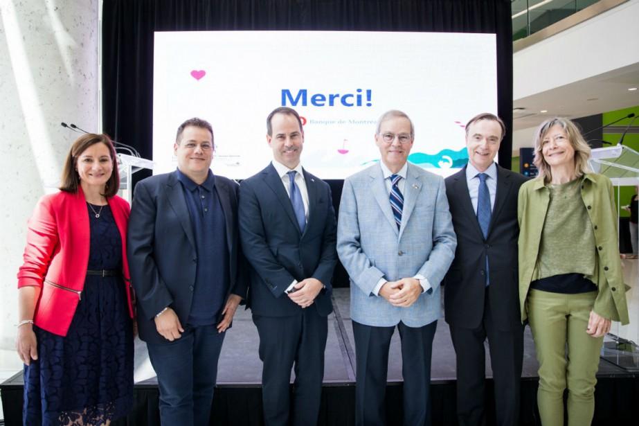Maud Cohen,Élie Haddad, Darryl White, M. L. Jacques... (Photo fournie par la Fondation)