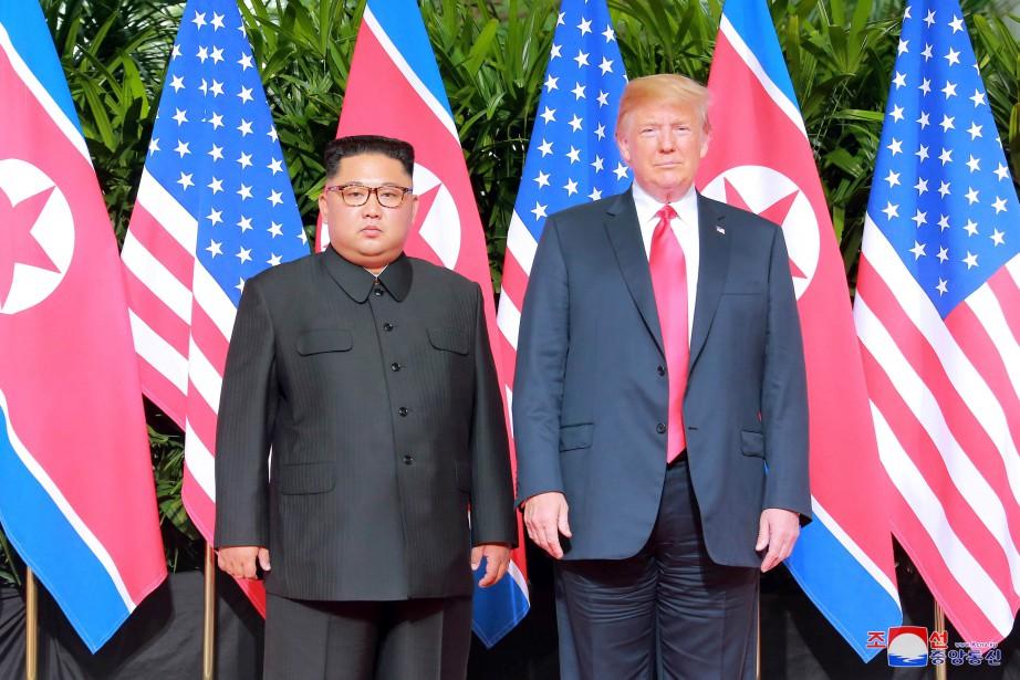La rencontre, la première entre un président américain... (PHOTO REUTERS)