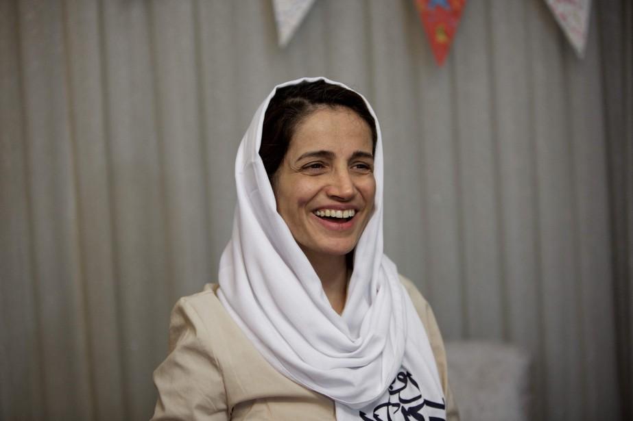Nasrin Sotoudeh, vue ici en 2013, est une... (Photo Behrouz Mehri, archives Agence France-Presse)