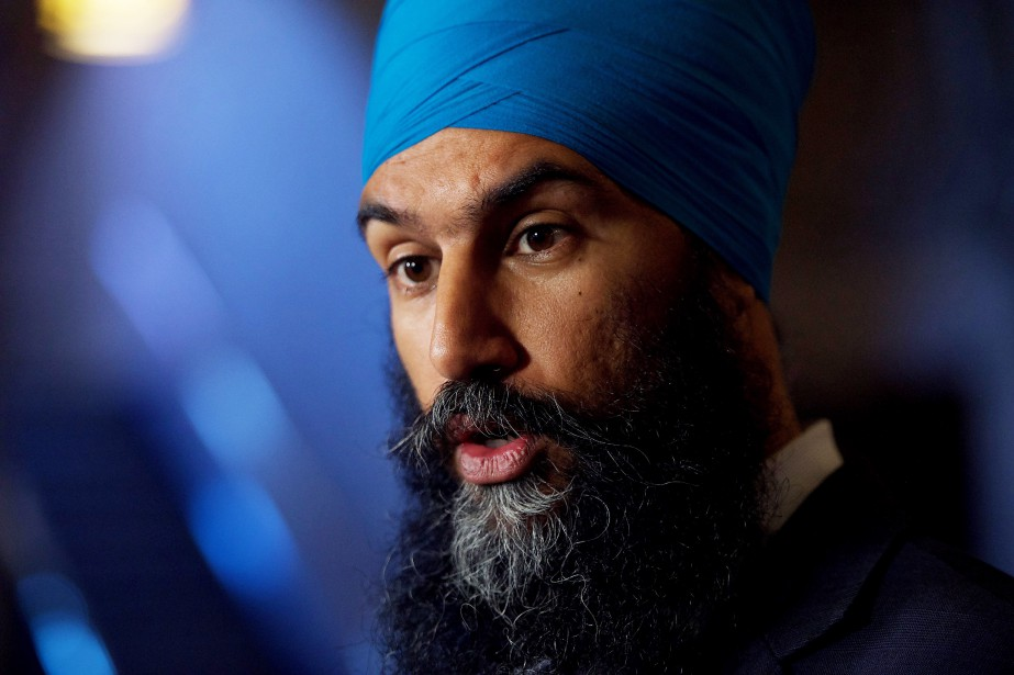 Le chef du Nouveau parti démocratique Jagmeet Singh... (PHOTO Sean Kilpatrick, LA PRESSE CANADIENNE)