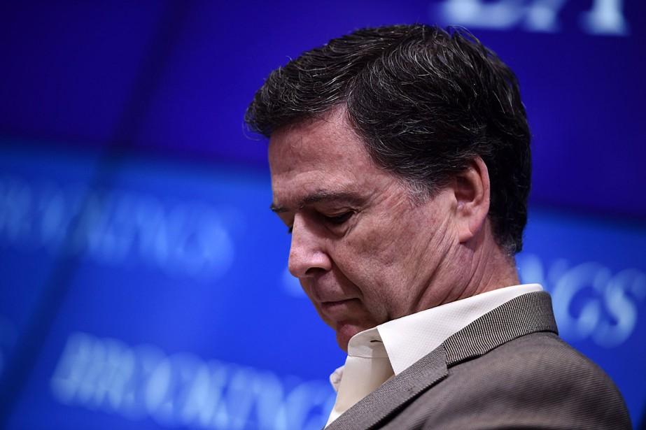L'ex-directeur du FBI James Comey... (PHOTO BRENDAN SMIALOWSKI, ARCHIVES AGENCE FRANCE-PRESSE)