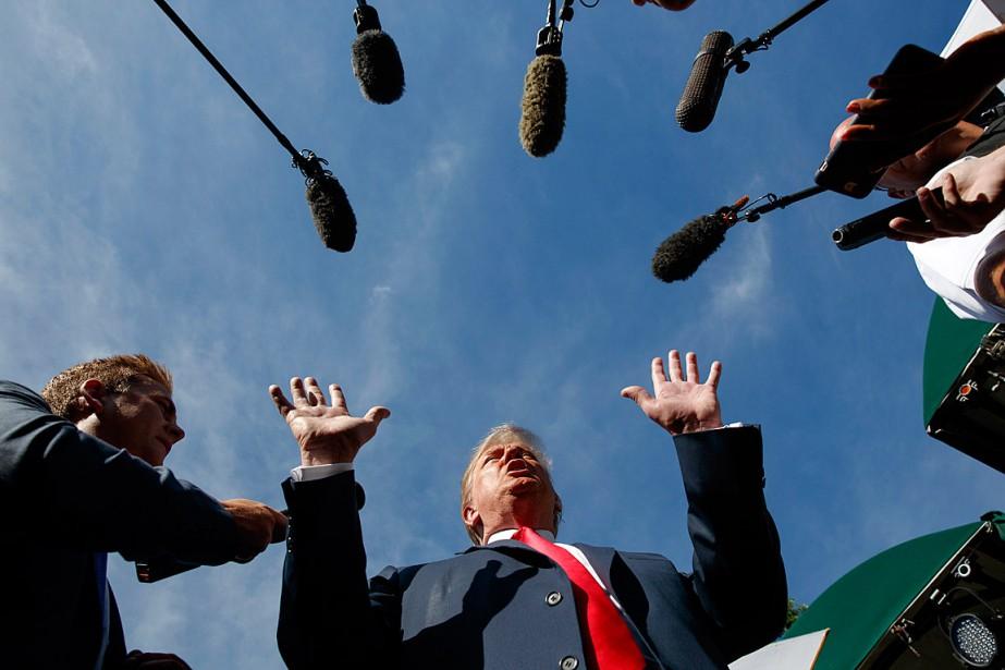 Après les critiques des derniers jours, Donald Trump... (PHOTO EVAN VUCCI, ASSOCIATED PRESS)