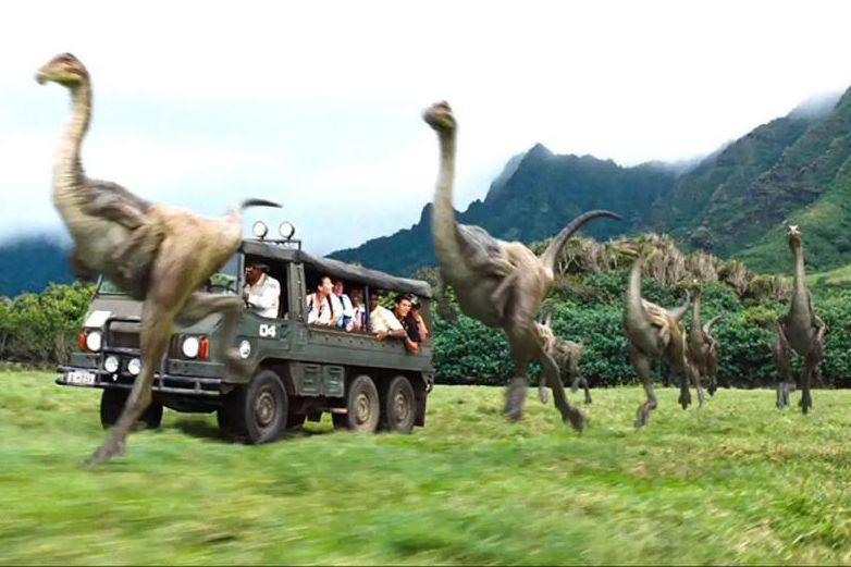 Une scène de Jurassic World (2015) qui a... (Photo fournie par Universal Pictures)