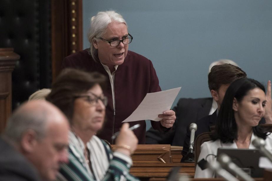 La co-porte-parole de Québec solidaire, Manon Massé.... (Photo Jacques Boissinot, PC)
