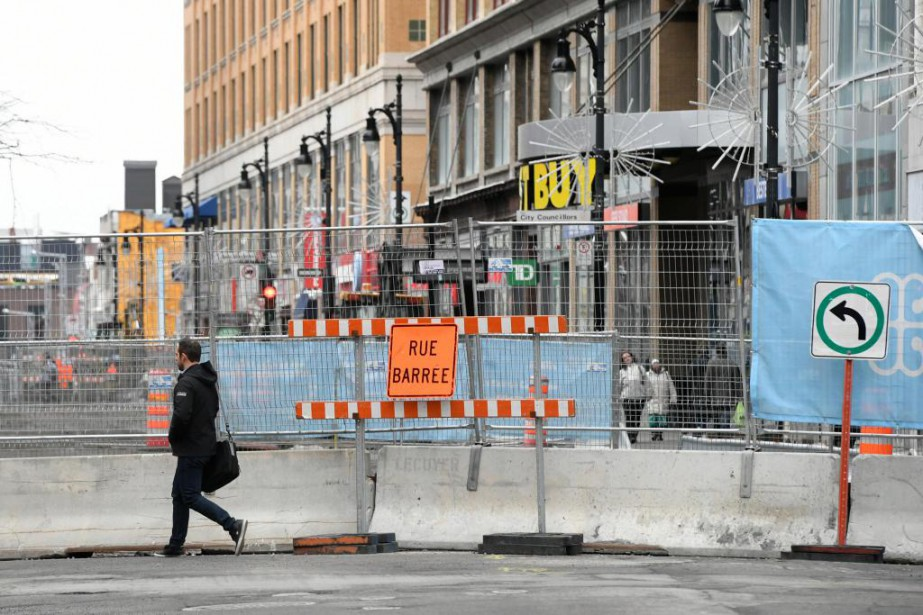 Les commerçants montréalais durement éprouvés par des travaux... (PHOTO BERNARD BRAULT, ARCHIVES LA PRESSE)