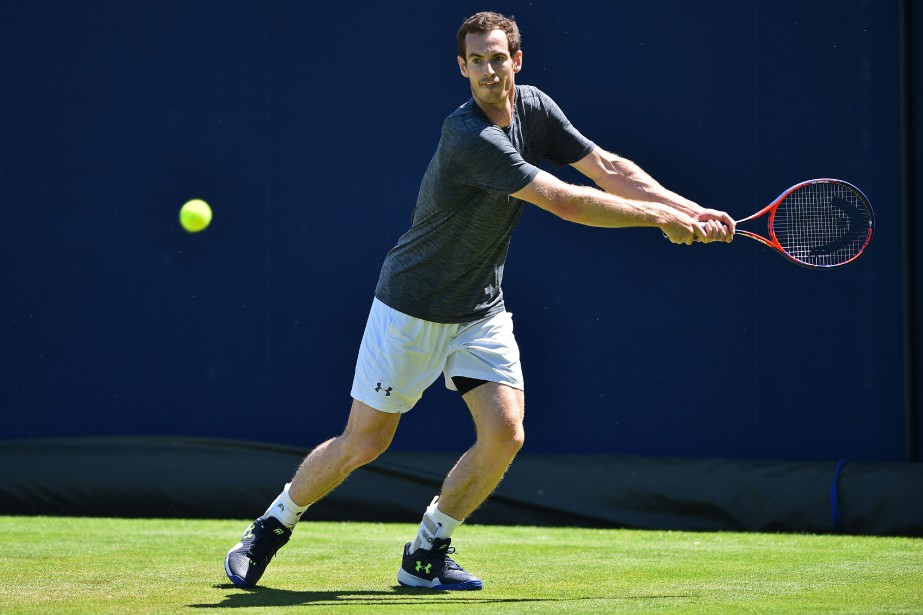 Opéré à une hanche en janvier, Andy Murrayn'a... (Photo Glyn Kirk, AFP)
