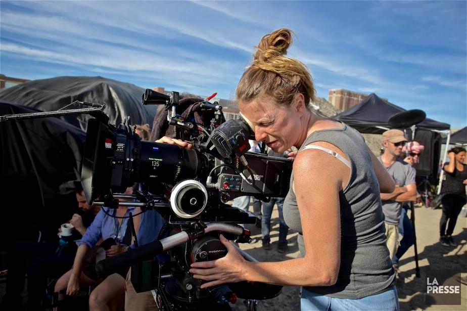 La directrice de la photographie Geneviève Perron sur... (PHOTO ANDRÉ PICHETTE, ARCHIVES LA PRESSE)