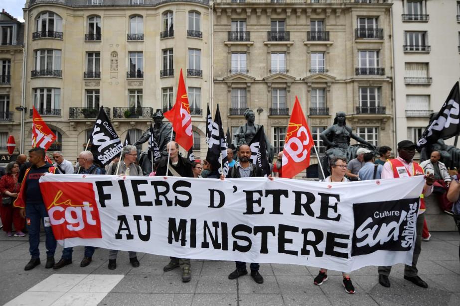Les employés du musée d'Orsay manifestent.... (Photo AFP)