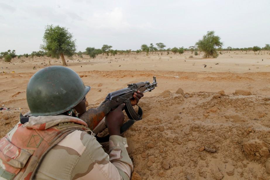 Un soldat nigérien.... (Photo Luc Gnago, archives REUTERS)