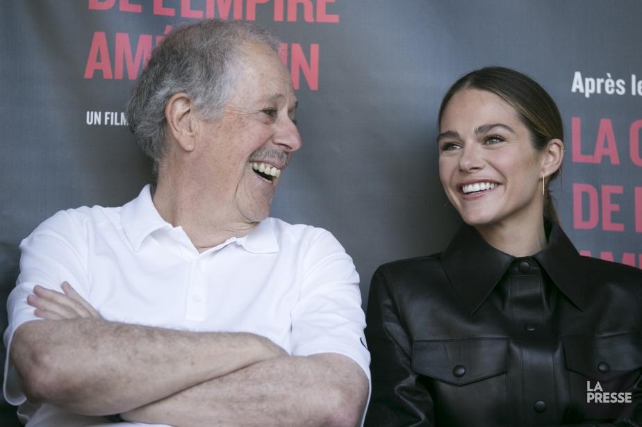 Denys Arcand et Maripier Morin... (Photo François Roy, La Presse)