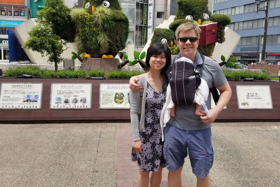 Ryan Hoag et sa compagne Wiyani Prayetno... (PHOTO COURTOISIE/LA PRESSE CANADIENNE)