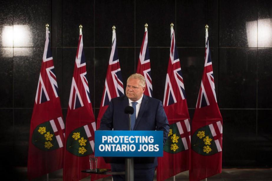 Doug Ford, élu premier ministre de l'Ontario le... (PhotoTijana Martin, La Presse canadienne)