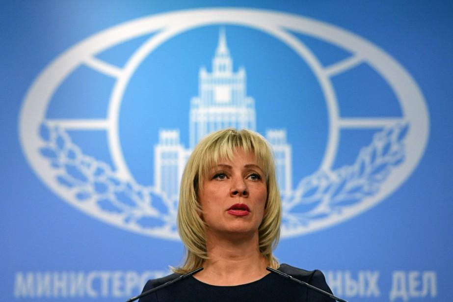 La porte-parole de la diplomatie russe, Maria Zakharova,... (Photo Yuri KADOBNOV, Agence France Presse)
