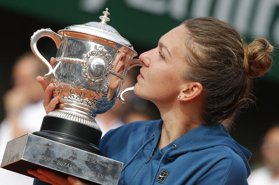 Simona Halepa décroché à Roland-Garros son premier titre... (Photo Michel Euler, archives AP)