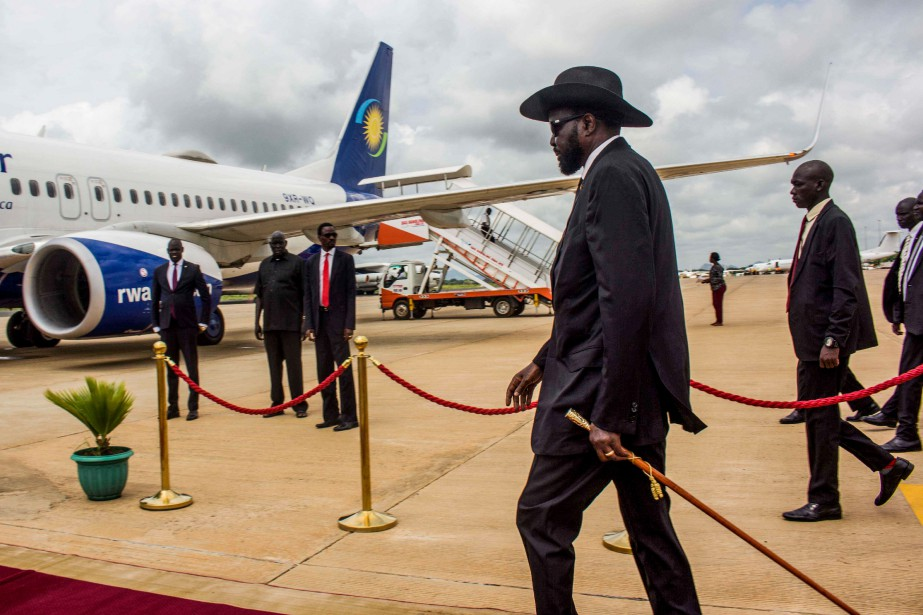 Le Président du Soudan du Sud Salva Kiir... (PHOTO AKUOT CHOL, AGENCE FRANCE-PRESSE)