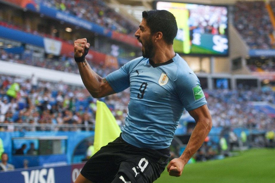 Luis Suarez a marqué le but de l'Uruguay... (Photo Khaled Desouki, AFP)