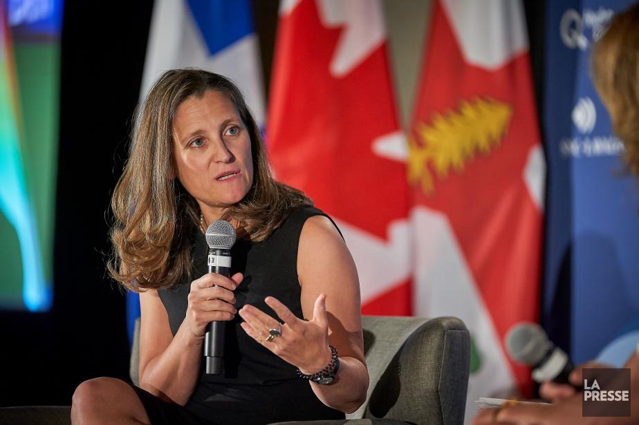 La ministre des Affaires étrangères, Chrystia Freeland... (Photo André Pichette, La Presse)