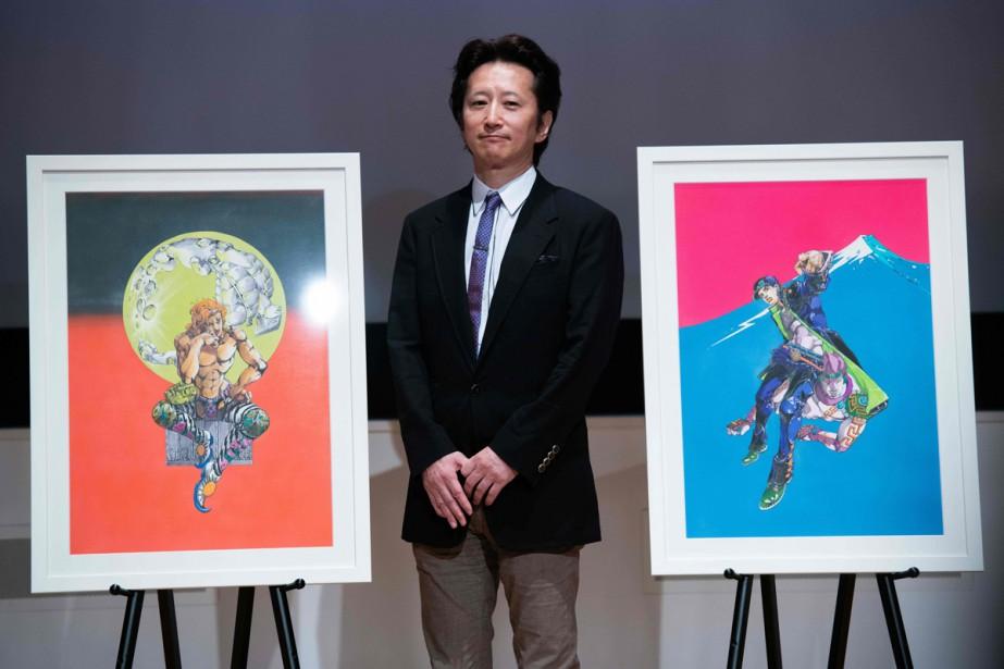 Pendant plus d'un mois, Hirohiko Araki, dessinateur de... (Photo AFP)