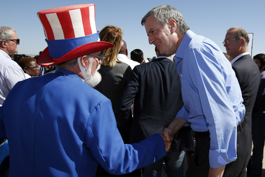 Bill de Blasio lors de son passage à... (Photo Andres Leighton, Associated Press)