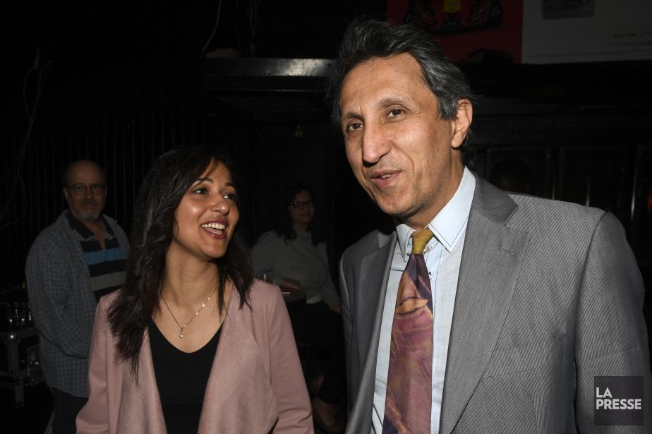 Ruba Ghazal et le député sortant de Québec... (Photo Bernard Brault, La Presse)