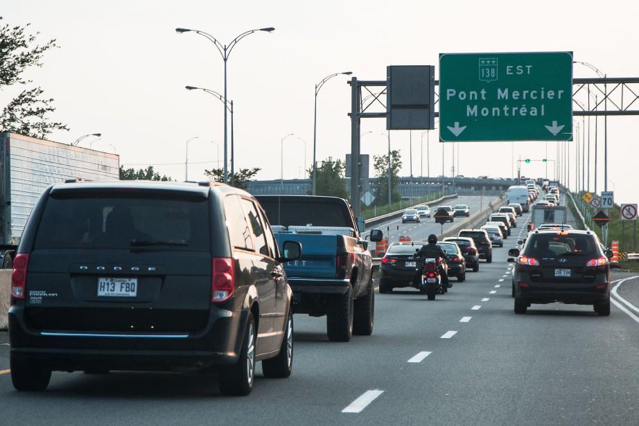 La fermeture partielle du pont Mercier constitue, vraisemblablement,... (PHOTO SIMON GIROUX, ARCHIVES LA PRESSE)