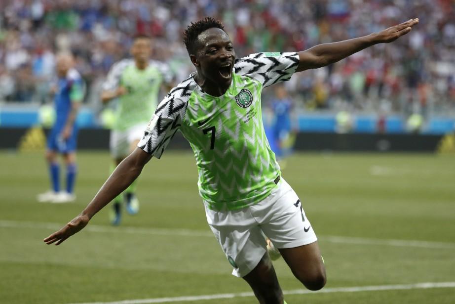 Ahmed Musa a marqué les deux buts du... (Photo Darko Vojinovic, AP)