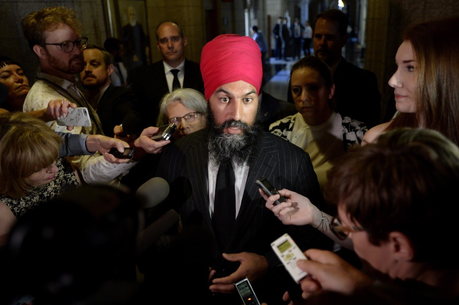 Le chef du NPD, Jagmeet Singh.... (Photo Justin Tang, archives PC)