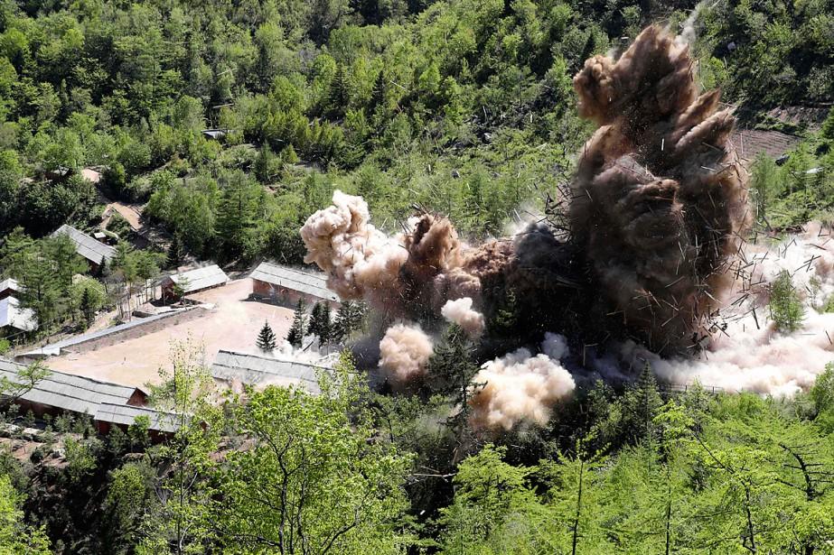 Le site d'essais nucléaires nord-coréen Punggye-ri, dans le... (PHOTO ARCHIVES YONHAP VIA AP)