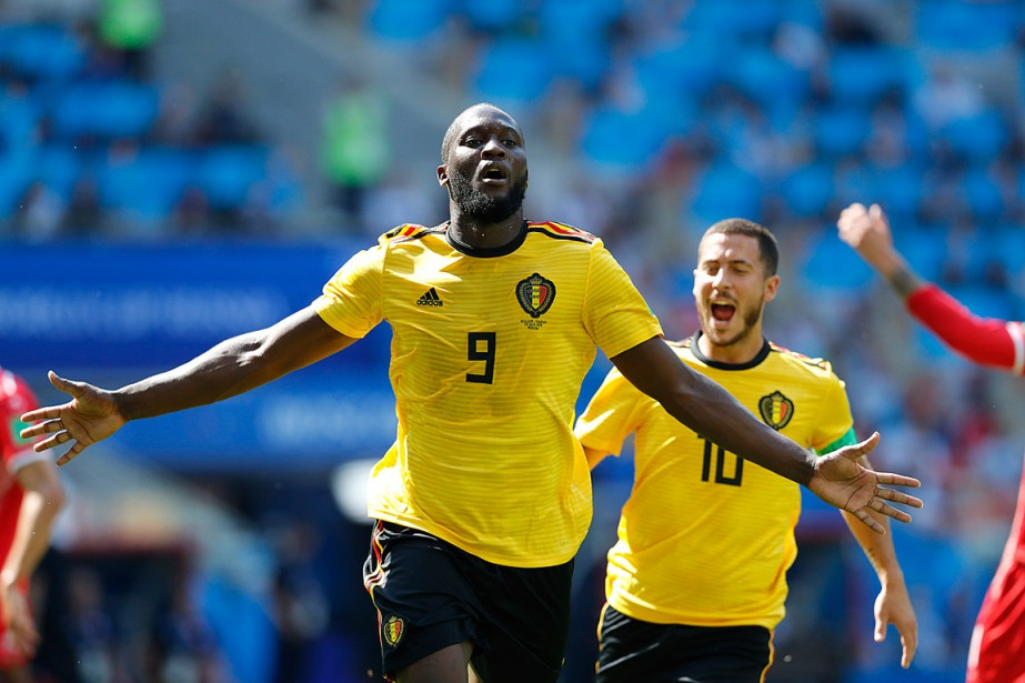 Romelu Lukaku (9) et Eden Hazard ont tous... (PHOTO HASSAN AMMAR, ASSOCIATED PRESS)