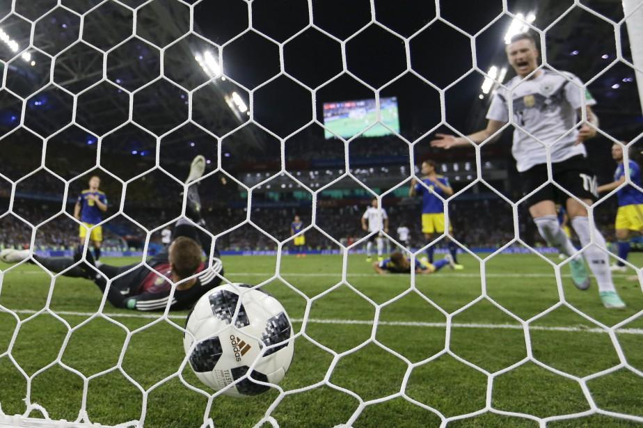 Marco Reus a inscrit le but égalisateur de... (AP)