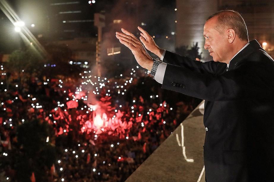 Le chef de l'État turc Recep Tayyip Erdogan... (KAYHAN OZER, TURKISH PRESIDENTIAL PRESS SERVICE VIA AFP)