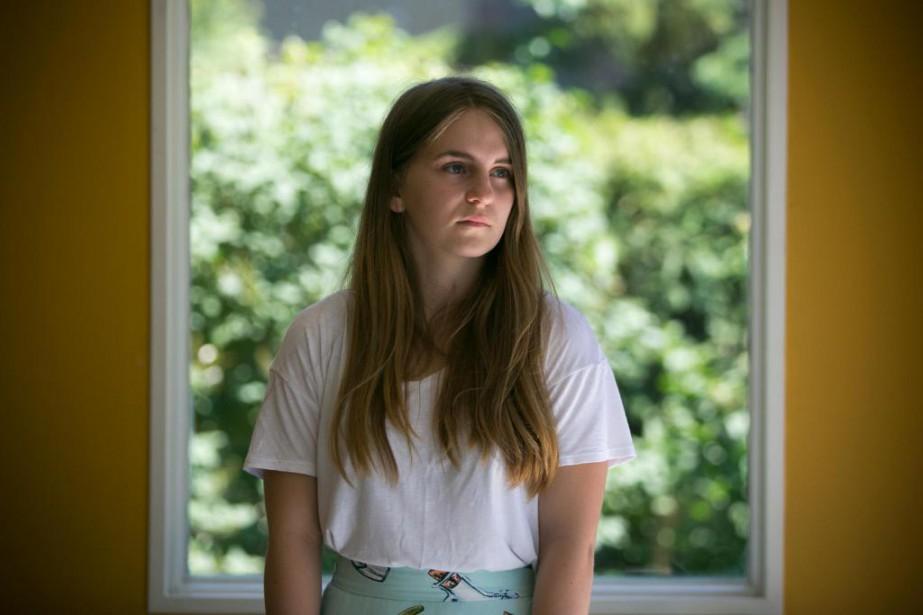 ClémentineCôté-Bélanger, 17ans, a déposé une plainte à la... (PHOTO FRANÇOISROY, LA PRESSE)