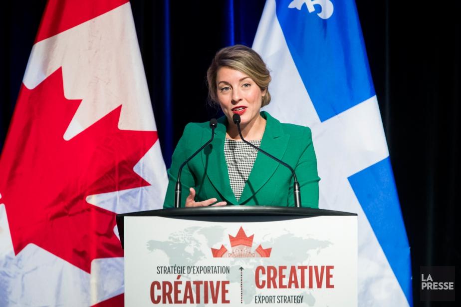 La ministre du Patrimoine canadien, Mélanie Joly, a... (PHOTO MARCO CAMPANOZZI, LA PRESSE)
