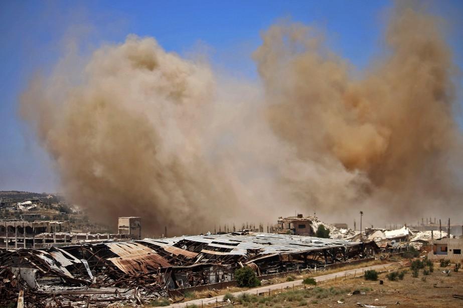 Au total, quelque 750 000 civils vivant en... (Photo Mohamad Abazeed, Agence France-Presse)