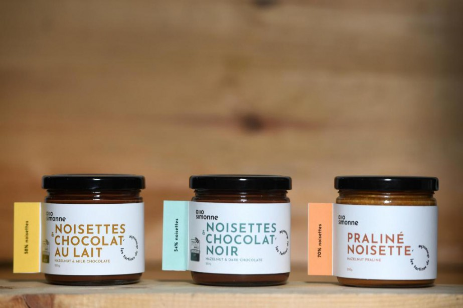 Chaque pot de tartinade Allo Simonne contient un... (Photo Bernard Brault, La Presse)