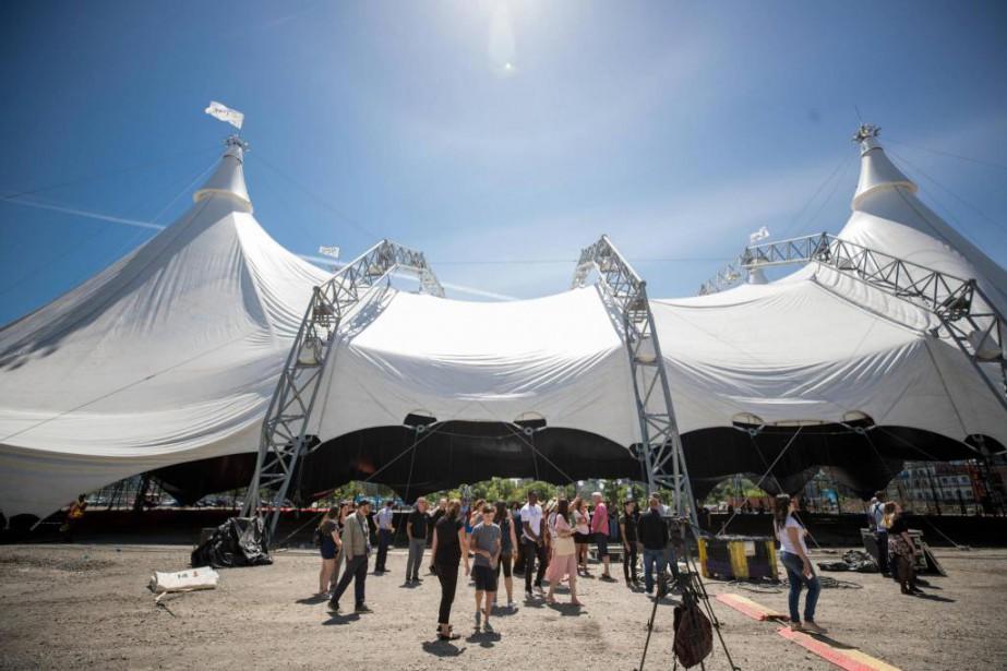 Installé pour présenter le spectacle Odysséo, le grand... (Photo Marco Campanozzi, La Presse)